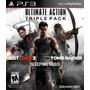 Tomb Raider + Just Cause 2 + Sleeping Dogs. 3 Jogos. Ps3