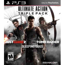 Tomb Raider + Just Cause 2 + Sleeping Dogs. 3 Jogos. Ps3