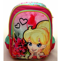 Mochila Costas Média Escolar Polly Pocket Original Sestini