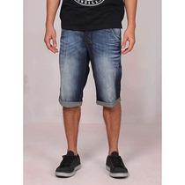 Bermuda Jeans Estonada Masculina Denuncia