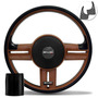 Volante Shutt Rallye Whisky Gtr Aplique Preto E Carbono + Cu