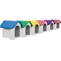 Casa Casinha Plástica Cães Gatos Tamanho 3 Pet Shop Cores
