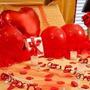 Kit Decoração Romântica Namorados Pétalas Vela Coração Frase