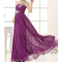 Vestido Longo Azul Caneta - Manequins 36 A 44