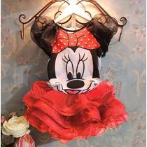 Vestido Conjunto Minnie Com Saia De Tutu - Frete Grátis