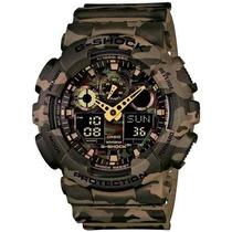 Relógio Casio G-shock Ga-100cm-5adr Camuflado Com Nfe