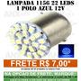 Lampada 1156 1 Polo 22 Leds Azul Ré - Placa Celta E Corsa