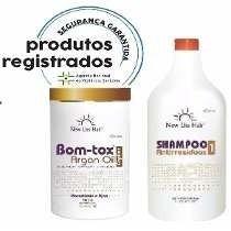 Bom-tox Capilar Sem Formol New Liss Hair + Shampoo Original.