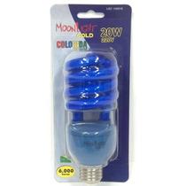 Lâmpada Eletrônica Colorida Espiral 20w 220v Azul