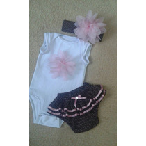 Conjunto Body Tapa Fraldas Body Bebê Calcinha Minnie