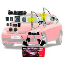 Kit Vidro Elétrico Vw Gol G5 Traseiro + Trava Específica