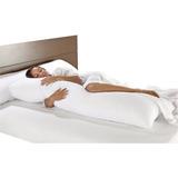 Travesseiro De Corpo Para Gestante Gravida + Fronha Percal