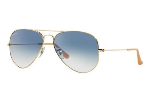 Oculos Sol Ray Ban Aviador Rb3025 001 3f Dourado Azul Degrad 77bc74884f