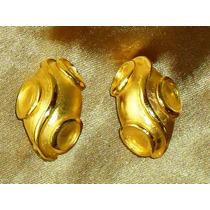 Lindo,refinado Par De Brincos Vintage Banho18k,usa,déc.80