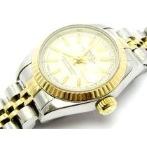 Relógio Oyster Rolex Lady Original Aço Ouro Frete Gratis
