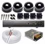 Kit Cftv 4 Minicâmeras - Instalação Inclusa