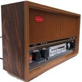 Lindo Radio Vintage Retro Gabinete Madeira Mesmo Som Da Roça