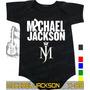 Body Michael Jackson Preto Infantil Bebê Rock Acdc Metallica