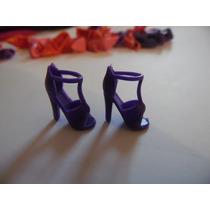 Sapato De Salto Sandália Para Barbie Modelo 2 Roxo Importado