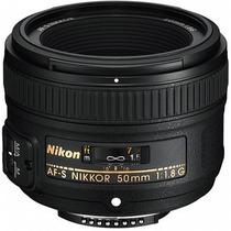 Lente Nikon 50mm F1.8g Af-s C/ Parasol Pronta Entrega F/1.8g