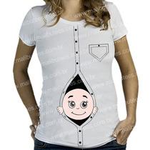 Blusa T-shirt Bebe Gestante Gravida Kit Atacado Cm 15 Unid