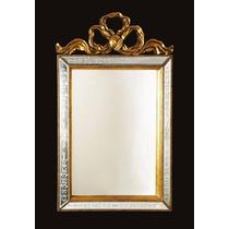 Espelho Bisotado Para Parede Da Sala Moldura Retangular