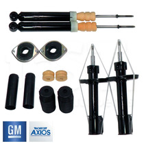 4 Amortecedores Turbogás Gm + Kit Axios Corsa Celta Prisma