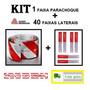 Kit Faixa Refletiva Parachoque + 40 Lateral Avery Caminhão