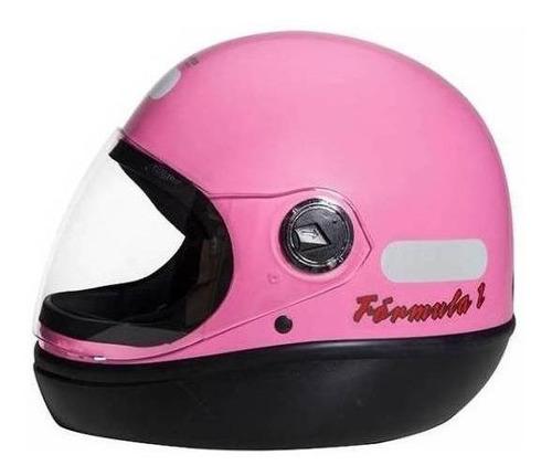 Capacete Para Moto Integral San Marino Classic Rosa Tamanho 60