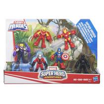Playskool C/ 6 Figuras Avengers Pantera Negra Homem Formiga