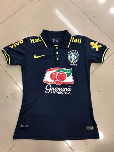 Nova Camisa Polo Seleção Brasileira Azul Feminina 2018 !!! - R  79 ... 81a10beff0136