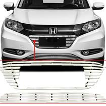 Kit Sobre Grade Cromo Aço Inox Filetada - Honda Hr-v Hrv