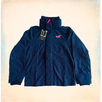 Blusa Hollister All-weather Jacket Navy À Pronta Entrega