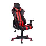 Cadeira De Escritório Pelegrin 3013 Gamer Ergonômica Preta E Vermelho Con Estofado Do Couro Sintético