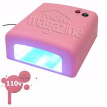 Cabine Unha 36w Estufa Rosa O Melhor Profissional 110 V Seca