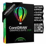 Corel Draw 2019 Original 03 Chaves Superior Ao X7 X8 X9 2018