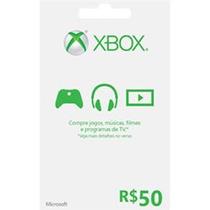 Xbox Live Cartão De R$ 50 Para Xbox 360 Nota Fiscal