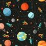 Papel De Parede Infantil Espaço Planeta Foguete Autoadesivo