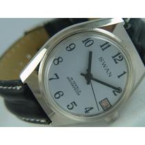 Relógio Swan Russo 18 Jewels Data Enrolamento De Cisne
