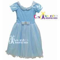 Vestido Festa Infantil Dama De Honra Longo Com Tiara