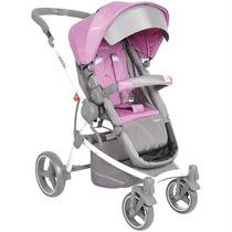 Carrinho De Bebê Aspen Cinza/rosa Kiddo