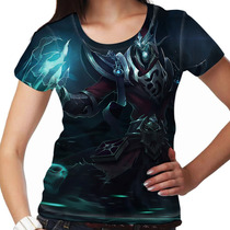 Camiseta League Of Legends Karthus Voz Mortal Feminina