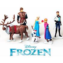 Frozen Kit 6 Personagens Elsa Anna Olaf Sven Kristoff Hans