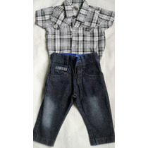 Conjunto Infantil Sport Fino Menino Social Jeans Camisa Fest