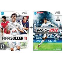 Jogo Fifa Soccer 11 + Pro Evolution Soccer 2012 Nintendo Wii