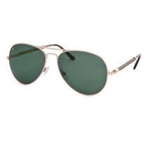 Óculos De Sol Invicta Aviador Dourado Lente Verde Iew016-01