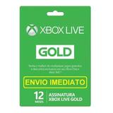 Xbox Live Gold 12 Meses - (envio Imediato) Código 25 Dígitos