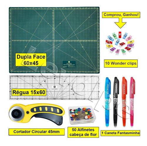 Kit Base De Corte 60x45 +régua 15x60 +cortado 45mm Patchwork