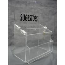 Caixa De Sugestões Em Acrílico Cristal-com Cadeado