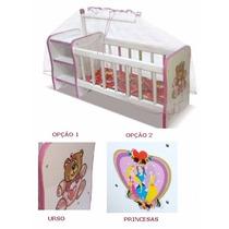 Berço Boneca Infantil Cômoda Bebê Reborn | C/ Mosquiteiro